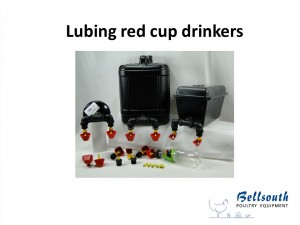 red Lubing cup drinker