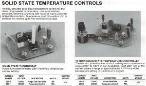 Lyon solid state thermostat